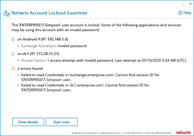 Account Lockout Examiner