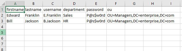 Import Active Directory Users from a CSV File