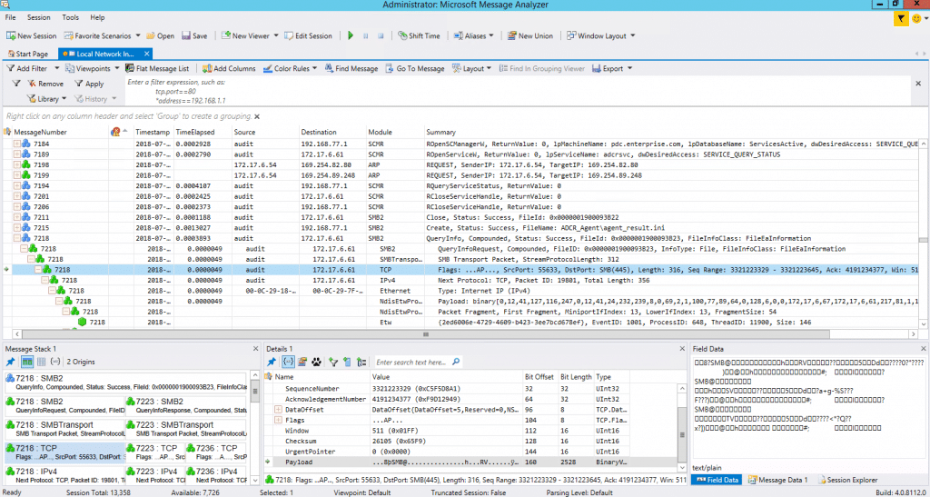 System Administrators Tools Microsoft Message Analyzer