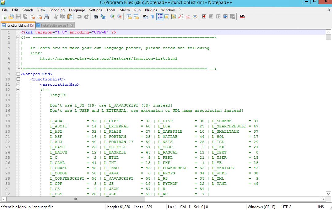 System Administrators Tools Notepad ++