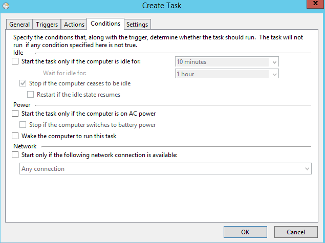 PowerShell Creating tasks with Task Scheduler step 4