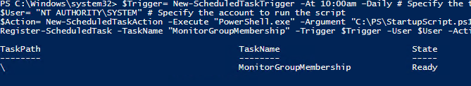 Creating Scheduled Tasks with PowerShell Scripts