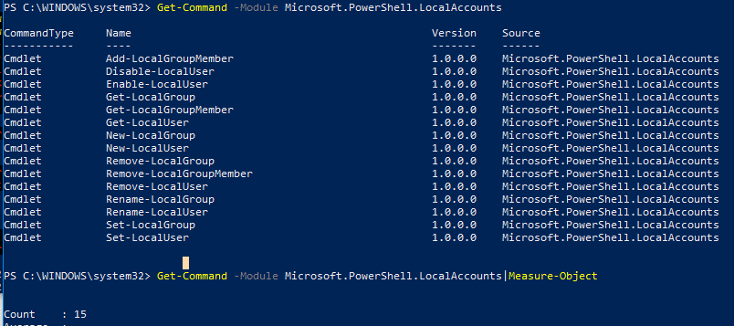Account Managing with PowerShell 1