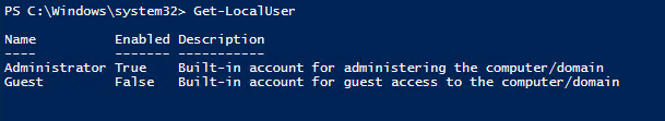Account Managing with PowerShell 2