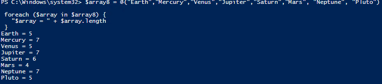 PowerShell_Loop through an array