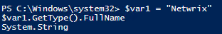 PowerShell Variables Type