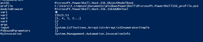 PowerShell Variables and Arrays