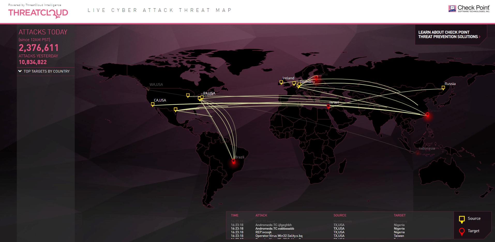 Top Ten Cyber Maps and How They Can Help You Ddos Live Map on