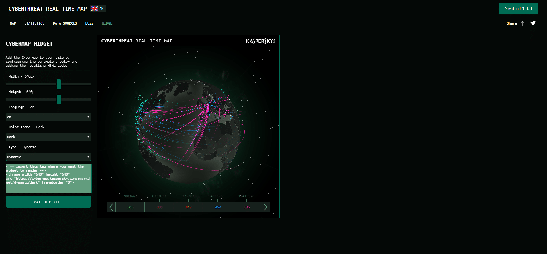 Cyber Attack Map by Kaspersky