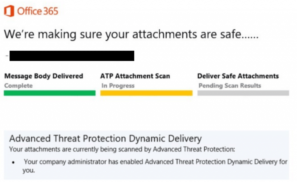 Exchange Online Advanced Threat Protection ATP Safe Attachments Service