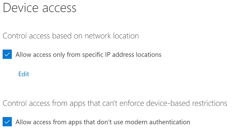 Managing Device Access Restrictions in OneDrive