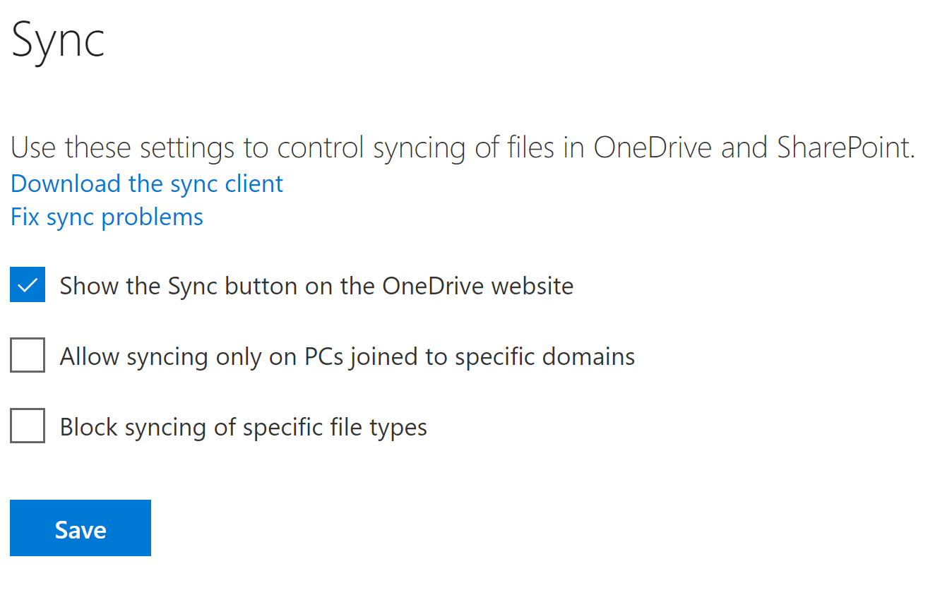 Managing Sync Settings in OneDrive