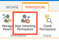 Breaking Permission Inheritance in SharePoint