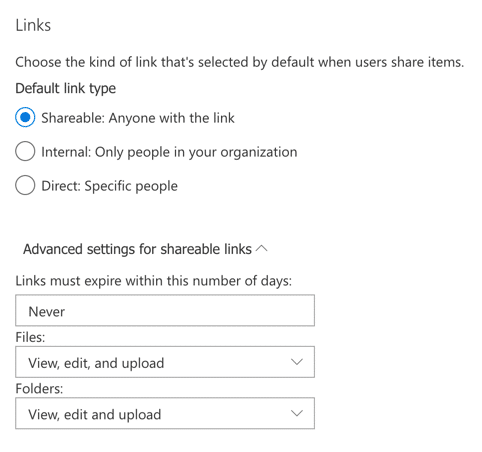 OneDrive for Business Setting Sharing