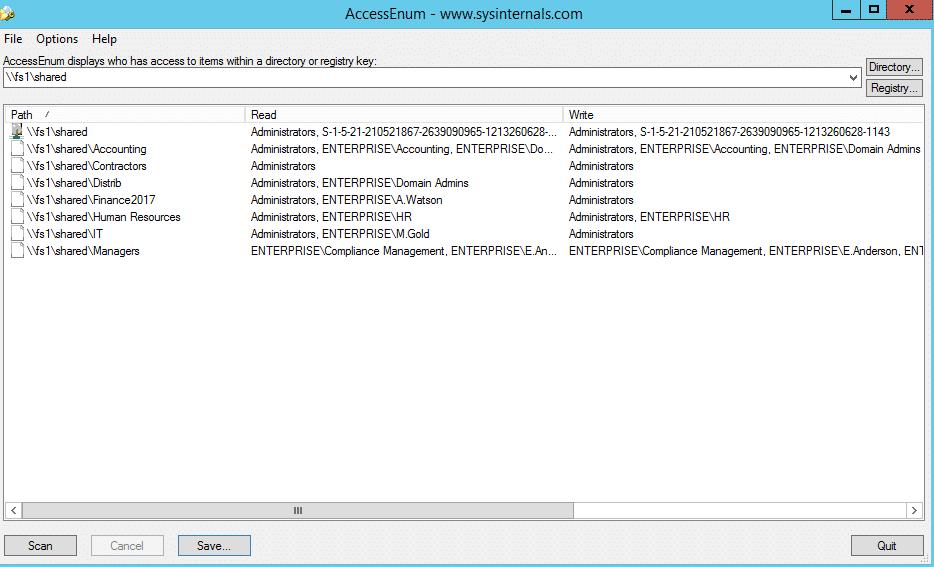 NTFS Permissions Tools Enum1