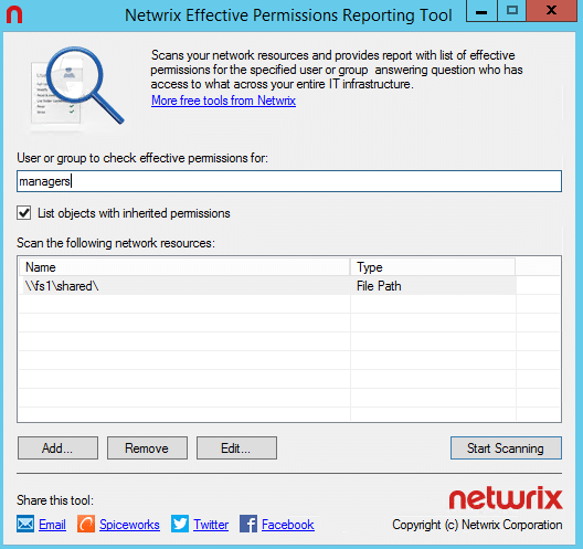 NTFS Permissions Tools NERP1