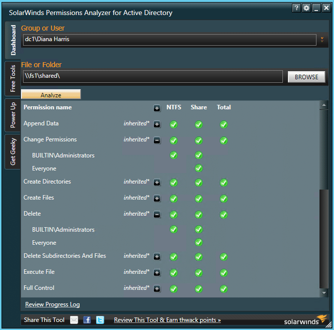 NTFS Permissions Tools SolarWinds1