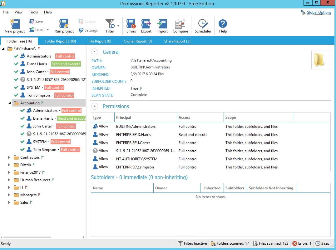 NTFS Permissions Tools Key Metric1